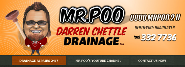 Mr Poo - drainage company in Christchurch, New Zealand